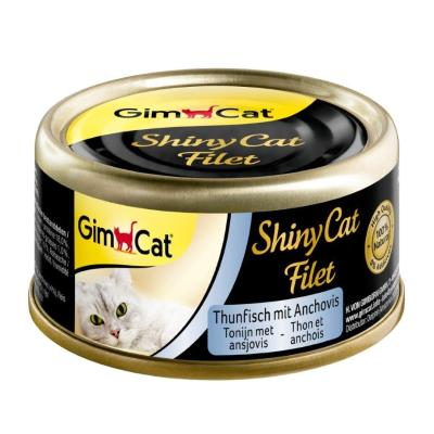 GimCat ShinyCat Filet Thunfisch & Anchovis | 70g