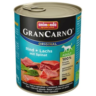 GranCarno Adult Rind + Seelachs mit Spinat | 800g
