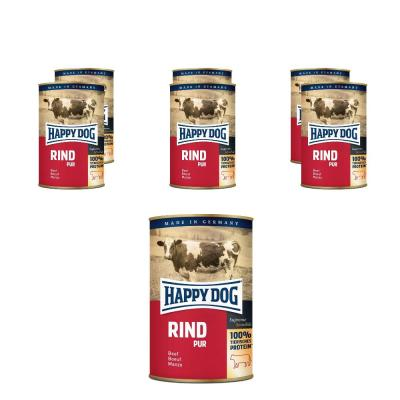 Sparpack! Happy Dog Rind pur | 6 x 800g
