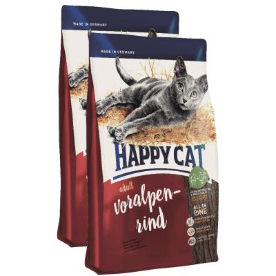 Sparpack! Happy Cat Supreme Adult Voralpen-Rind | 2 x 10kg