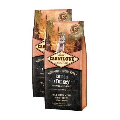 Sparpack! Carnilove Dog Puppy Large Breed Salmon & Turkey | 2 x 12kg