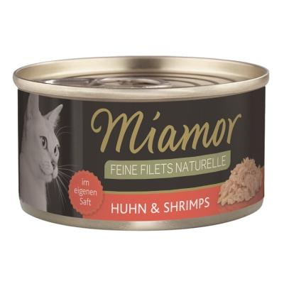 Miamor Feine Filets naturelle Huhn & Shrimps | 80g