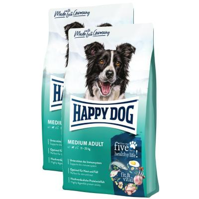 Sparpack! Happy Dog Supreme fit & vital Medium Adult 2 x 12 kg