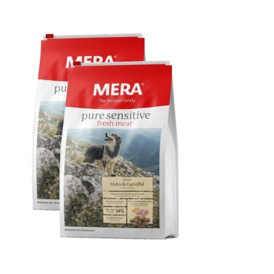 Sparpack! MERA pure sensitive fresh meat Huhn&Kartoffel High Protein | 2x12,5kg