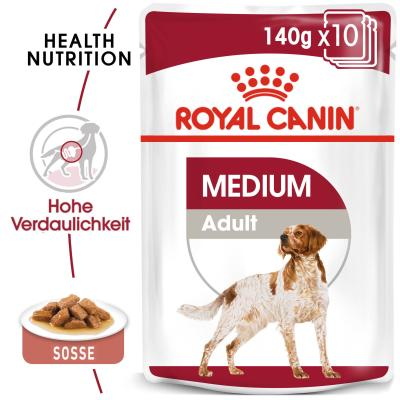Sparpack! Royal Canin Medium Adult in Soße | 10 x 140g